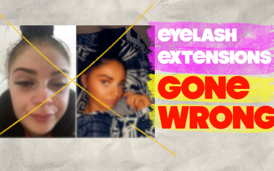 Eyelash Extensions Gone Wrong