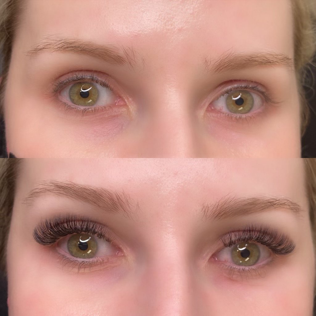 volume lashes before and after